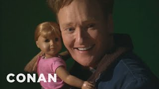Conan Visits The American Girl Store width=