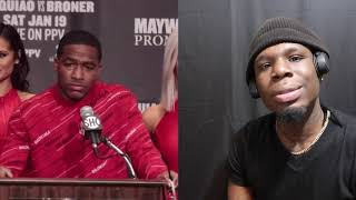 Adrien Broner really believes he beat Manny Pacquiao !!