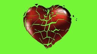 Free Green Screen Footage - Heart Breaking HD