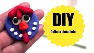 Como fazer Lembrancinha da galinha pintadinha em biscuit - PASSO A PASSO