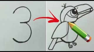 5 DRAWING NUMBERS INTO BIRDS PAPER HACKS