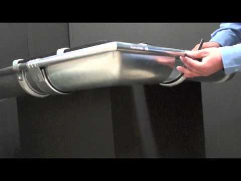 Montáž rohu pomocí žlabových spojek
