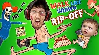 WALK LIKE SHAWN Video Game Rip-Off?! FGTEEV HILARIOUS Funny Fails w/ Manual Samuel the DOOFY ZOMBIE