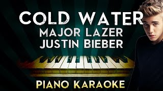 Major Lazer - Cold Water (ft.Justin Bieber & MØ) | Piano Karaoke Instrumental Lyrics Cover Sing