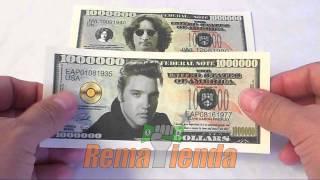 Billetes de un millón de dolares de personajes famosos