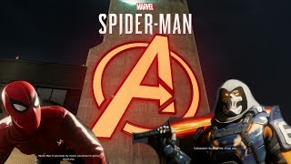 Fighting TaskMaster on AVENGERS TOWER - SPIDER-MAN PS4