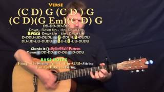 Stand By You (Rachel Platten) Guitar Lesson Chord Chart - Capo 2nd Fret