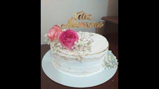 Bolo Rústico Com Rosas  #bologostoso #cake #MRBolosTortasCupcakes