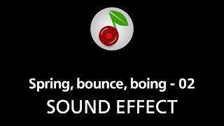 Spring, bounce, boing - 02, sound effect