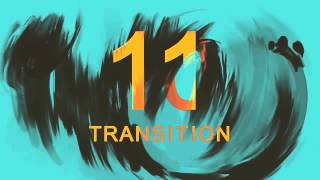 Oil Paint Brush Transition Pack After Effects Template
