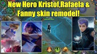 Mobile Legends - NEW HERO KRISTOF, RAFAELA & FANNY SKIN REMODEL!