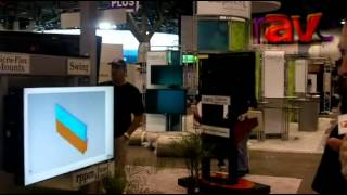 InfoComm 12: RP Visual demos Flex Arm Mount and LCD Cover