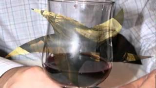 Luisito Rey   Frente a una copa de vino.