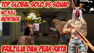 TOP GLOBAL SOLO VS SQUAD FREE FIRE 2019   SMOOTHYT