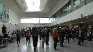Belfast Central Station Blues Brothers Flash Mob 9 April 2012