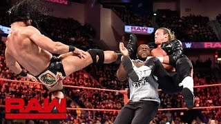 Dolph Ziggler and Drew McIntyre take down Titus Worldwide: Raw, April 16, 2018
