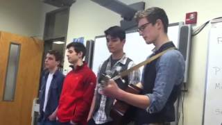 Junior Boys sing song for Valentine's Day