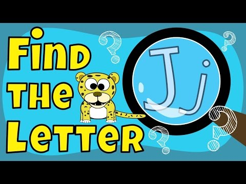 Alphabet Games- Find the Letter J
