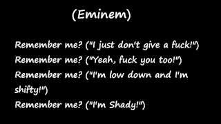 Eminem: Remember Me (Lyrics)