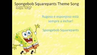SpongeBob SquarePants Letra(lyrics) European Portuguese (Portugues-Portugal) Letra