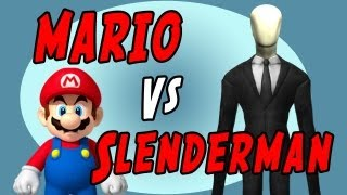 Mario Vs Slender Man