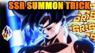 DBZ dokkan battle-2017 New trick summoning!!!