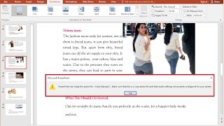 How to Fix PowerPoint Can't Play the Audio File Issues (Easy)