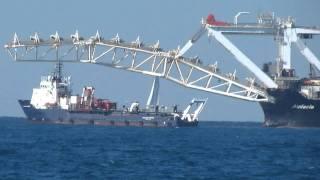 Audacia Ship Mediterranean, Tel Aviv Israel 23-12-2011 HD