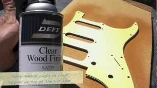 How to do an Aged (Relic'd) Finish on a Strat Pickguard