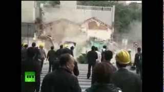 Un súbito hundimiento del terreno 'devora' varios edificios en China