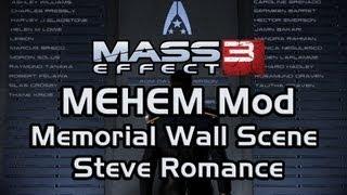 Mass Effect 3 Happy Ending Mod (MEHEM): Steve Romance (Memorial Wall Scene)