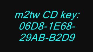 medieval 2 total war CD key!!!