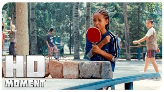 Дре играет в теннис - Каратэ-пацан (2010) - Момент из фильма