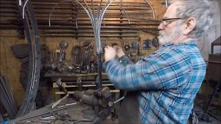 Making a Large Wrought Iron Chandelier in Fast Motion