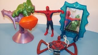 2002 HARDEE'S SPIDER-MAN SET OF 4 KID'S MEAL MOVIE TOY'S VIDEO REVIEW