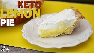 Keto Recipe: Keto Lemon Pie with Keto Hazelnut Crust | A Keto Holiday Recipe! Yum Yum!