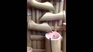 fonte agua decorativa bambu 7 quedas