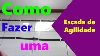 Como fazer uma Escada funcional/Agilidade - Fácil(agility ladder)