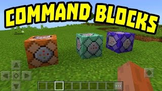 NEW MCPE 1.0.5 UPDATE!!! - Command Blocks in Minecraft Pocket Edition
