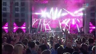 David Guetta playing Afrojack - Can't Stop Me Feat. Shermanology @Summerburst 2012 [HD]