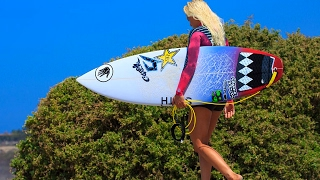 BIG WAVE SURFING COMPILATION ** GIRLS JUST WANNA HAVE FUN ** 2017