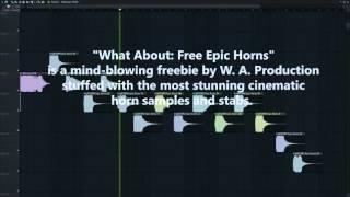 Free Epic Horns FL Studio Preview [50 Cinematic / Movie / Alien Horn Samples & Stabs]