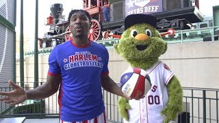 Trick Shot with Houston Astros | Harlem Globetrotters