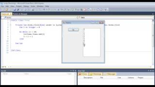 Visual Basic Do While Loop Tutorial Using a List Box - VB.NET Algorithm width=