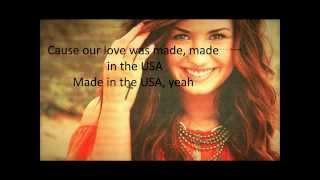 Made in the U.S.A - Demi Lovato - Lyrics