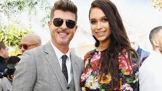 Robin Thicke and April Love Geary at Roc Nation Brunch to celebrate GRAMMY Awards