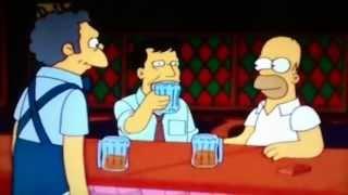 Los Simpsons - Moe, Homero y Wally Kogen en La Taberna