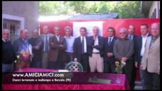 Danni dovuti al terremoto e al maltempo a Berceto (Parma)