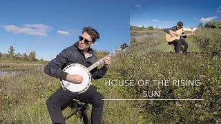 House of the Rising Sun - Harp Guitar/Banjo vs. Electric Cover