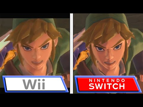 WTFF::: The Legend of Zelda: Skyward Sword Wii vs Nintendo Switch comparison video
